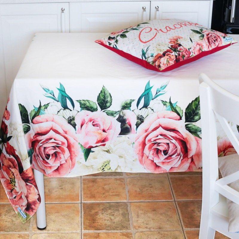 Скатерть дизайнерская Розы, Myatashop
