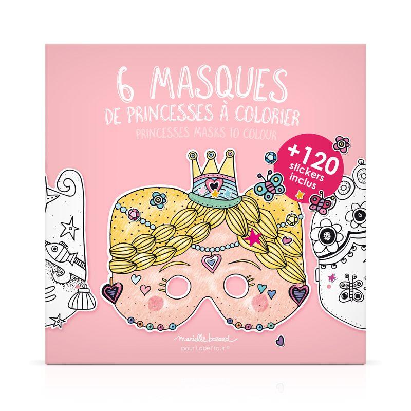 """Набор из 6 масок для раскрашивания """"Принцессы"""""""