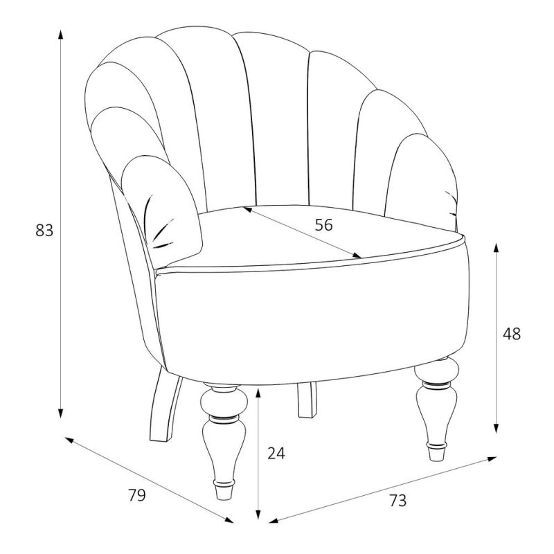Кресло однотонное