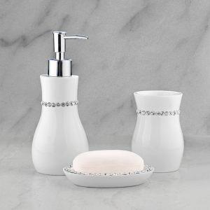 Подарочный набор №23 (мыльница, дозатор для жидкого мыла, стакан для зубных щеток)