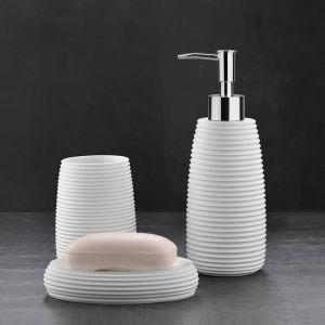 Подарочный набор №34 (мыльница, дозатор для жидкого мыла, стакан для зубных щеток)
