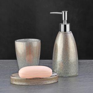 Подарочный набор №16 (мыльница, дозатор для жидкого мыла, стакан для зубных щеток)