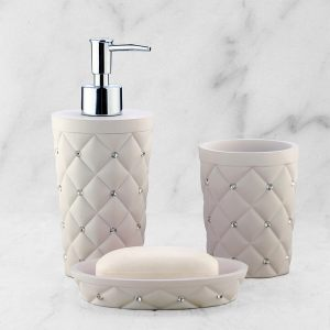Подарочный набор №25 (мыльница, дозатор для жидкого мыла, стакан для зубных щеток)