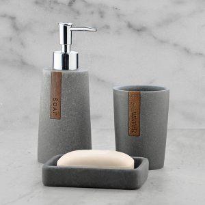 Подарочный набор №31 (мыльница, дозатор для жидкого мыла, стакан для зубных щеток)