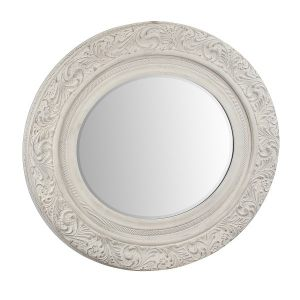 """Зеркало в белой деревянной раме """"Anuk anuk"""""""