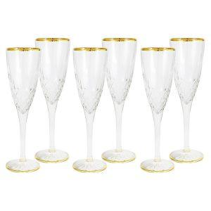 """Набор: 6 бокалов для шампанского """"Уэльс"""" 125 мл"""