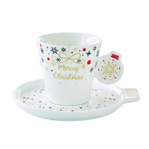 "Чашка с блюдцем ""Merry Christmas"" 150 мл"