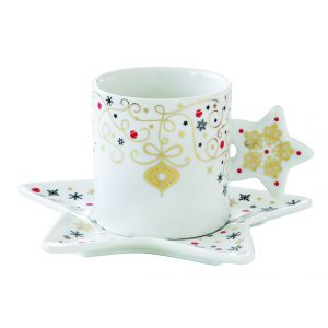 "Чашка с блюдцем ""Merry Christmas"" 175 мл"