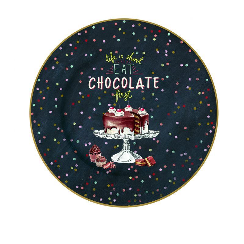 "Тарелка десертная ""Hot Chocolate"" 19 см"