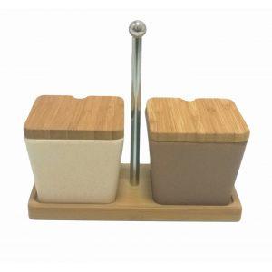 """Набор для специй """"Frybest"""" из двух бамбуковых предметов"""