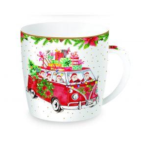 """Кружка """"Driving Santa"""" в жестяной коробке 350 мл"""