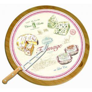 """Набор для сыра """"Fromage"""": нож и вращающаяся доска 32 см"""