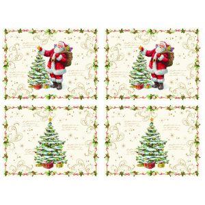 "Набор из 4-х подставок под горячее ""Magic Christmas"" 40x30 см"