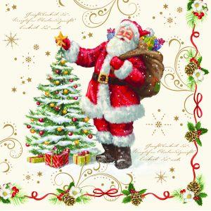 """Салфетки бумажные трехслойные """"Magic Christmas"""" 33 см"""