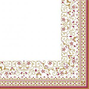 """Салфетки бумажные трехслойные """"Winter Carousel"""" 33 см"""
