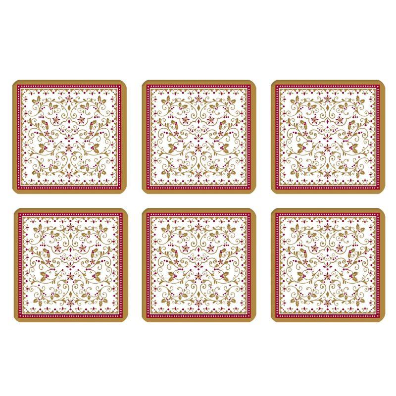 "Набор из 6 подставок под стаканы ""Winter Carousel"" 10,5 см"