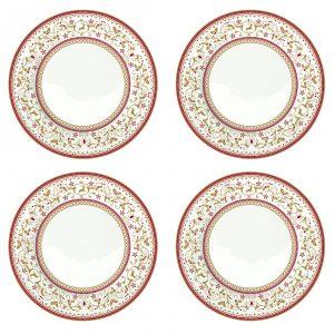 "Набор из 4-х десертных тарелок ""Winter Carousel"" 19 см"