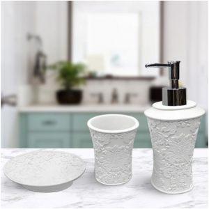 Подарочный набор №12 (мыльница, дозатор для жидкого мыла, стакан для зубных щеток)