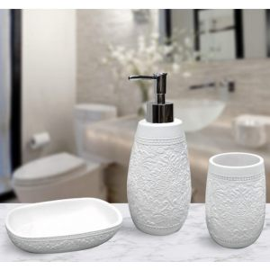 Подарочный набор №7 (мыльница, дозатор для жидкого мыла, стакан для зубных щеток)