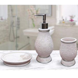 Подарочный набор №4 (мыльница, дозатор для жидкого мыла, стакан для зубных щеток)