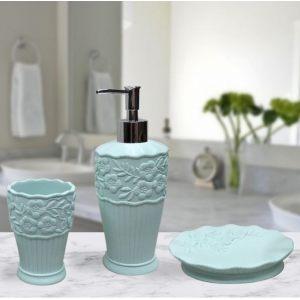 Подарочный набор №8 (мыльница, дозатор для жидкого мыла, стакан для зубных щеток)