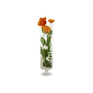 """Декоративные цветы """"Маки"""" в стеклянной вазе"""