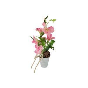 """Декоративные цветы """"Вьюнок розовый"""" в керамической вазе"""