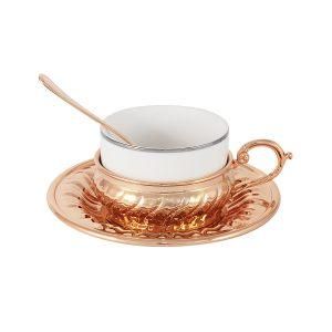 """Чайный набор """"Stradivari"""" с отделкой под розовое золото в подарочной коробке"""