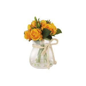"""Декоративные цветы """"Розы"""" в стеклянной вазе"""