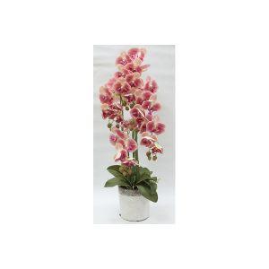 """Декоративные цветы """"Орхидеи"""" в керамической вазе"""