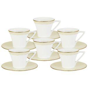 """Кофейный набор """"Бриз Голд"""" (6 чашек + 6 блюдец)"""