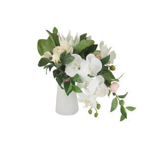 """Декоративные цветы """"Букет в керамической вазе"""""""