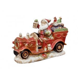 "Фарфоровая статуэтка ""Санта на Ретро автомобиле"""