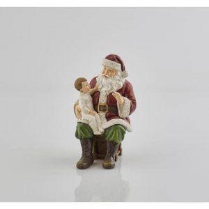 """Интерьерное украшение """"Санта и малыш"""""""