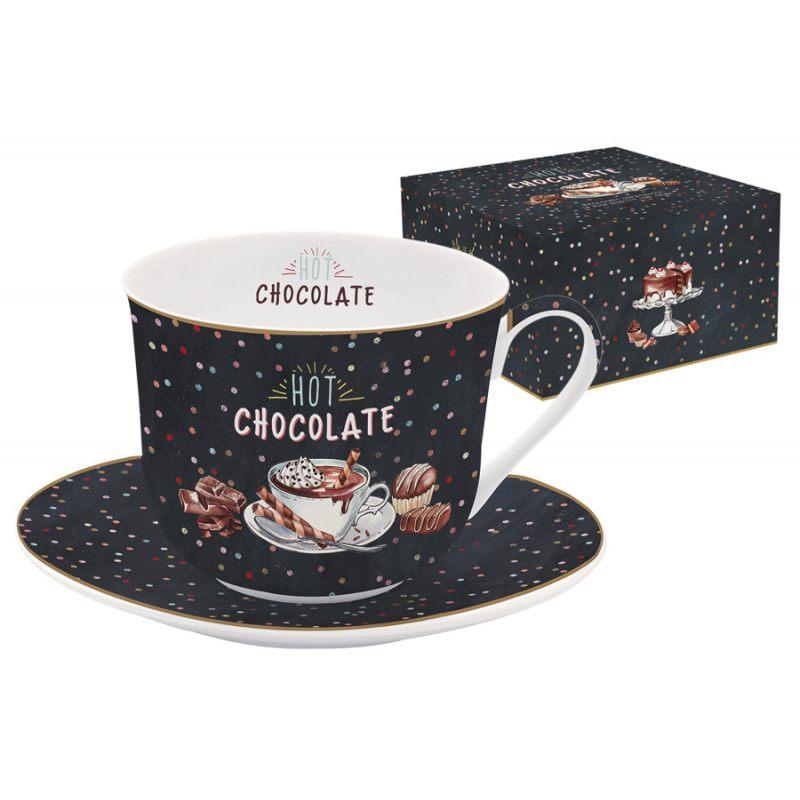"""Чашка с блюдцем """"Hot Chocolate"""" в подарочной упаковке"""