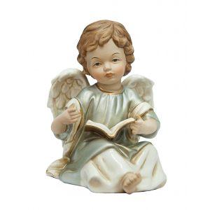 """Статуэтка """"Ангел с книгой"""" (серебро) 16 см"""