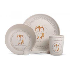 """Набор посуды для детей из бамбука """"Лиса"""""""