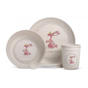 """Набор посуды для детей из бамбука """"Кролик"""""""