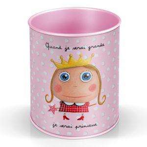 """Стакан для карандашей """"Веселая Принцесса"""""""