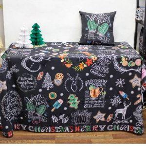 Декоративная праздничная новогодняя подушка