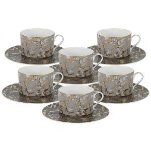 """Чайный набор """"Злата"""" (6 чашек + 6 блюдец)"""