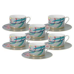 """Чайный набор """"Восточная лилия"""" (6 чашек + 6 блюдец)"""