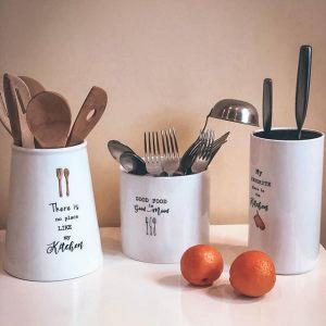 "Банка - подставка с кухонными инструментами ""Kitchen Elements"" (5 инструментов)"