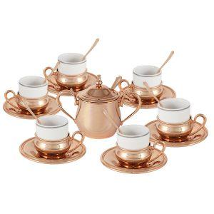"""Кофейный набор на 6 персон """"Экстра-люкс"""" с отделкой под розовое золото"""