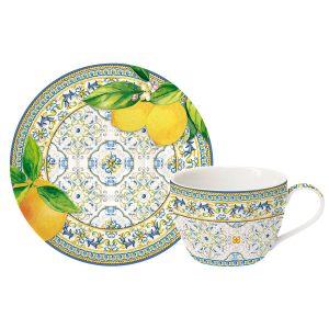 """Кофейная чашка с блюдцем """"CAPRI AGRUMI"""" 110мл"""