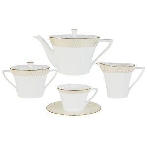 """Чайный сервиз из 17 предметов на 6 персон """"Бриз Голд"""""""
