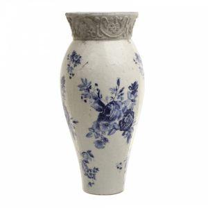 Ваза керамическая с синими цветами