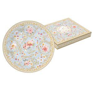 """Тарелка десертная """"Majestic"""" (голубая) в подарочной упаковке"""