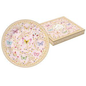 """Тарелка десертная """"Majestic"""" (розовая) в подарочной упаковке"""