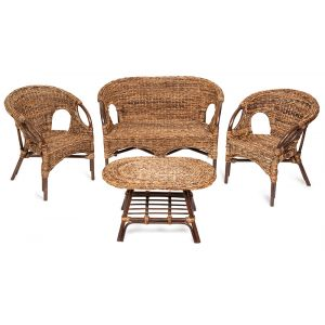 """Комплект для отдыха """"MANDOLA"""" (диван, 2 кресла, стол овальный)"""